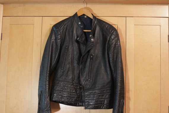 Leather Motorcycle Jacket Italian Unisex