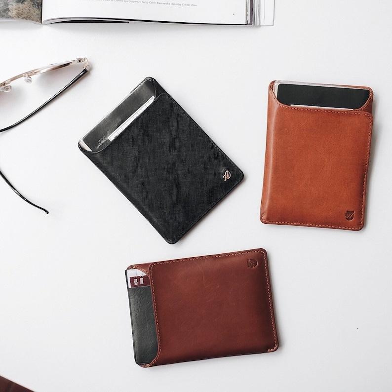 Mens Passport Wallet Leather Passport Wallet Passport Holder Passport Wallet RFID Passport Wallet Minimalist Passport Wallet