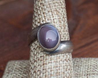Botswana Agate Twist Ring