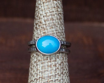 Turquoise Double Band Ring