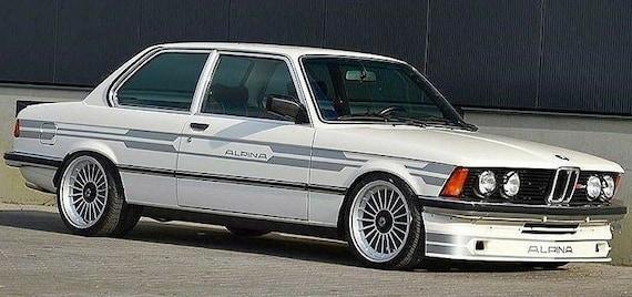 9pcs//9tlg 4d Decal stickers SILVER BMW Alpina E12 E28 E23 E30 Stickers Set