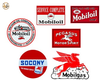 Adesivi vintage repliche mobil pegasus sticker auto moto print pvc 3 pz.