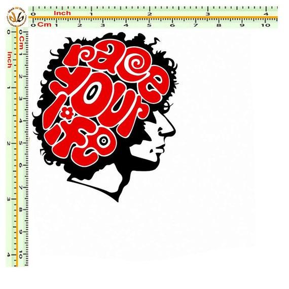 Marco Simoncelli Face Sticker Red//Black