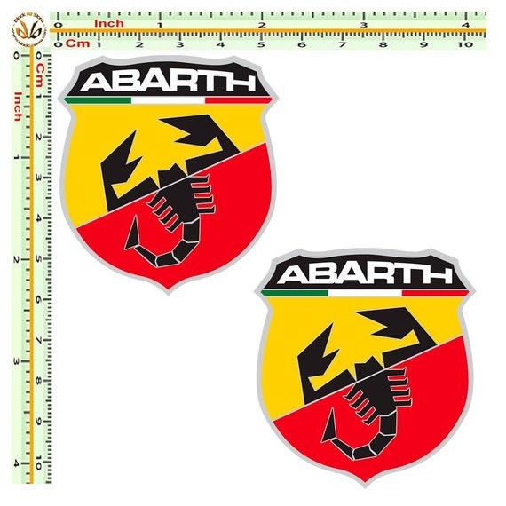 Fiat Abarth Scorpion Logo Badge Car Motorbike Racing Tuning Decal Sticker Blue