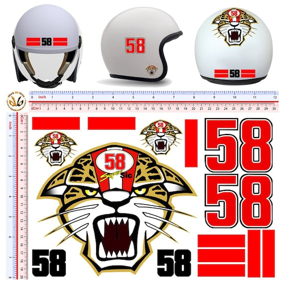 MARCO SIMONCELLI Classic Retro Car Motorcycle Decals Stickers