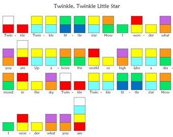 Printable Children's Song Charts for Handbells