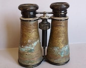 A Vintage pair of Brass 1930 39 s Possibly World War 2 Military, Field Glasses or Binoculars found in Normandy France