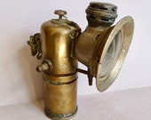 An Antique Brass, Luxor, Powell and Hammer, Panther Carbide Bicycle Lamp from early 1920 39 s s, marked and found in Normandy France