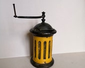 A Rare Working Antique G3 or G4 French Coffee Grinder Made by Peugeot Freres between 1876 and 1936 and found in Normandy France
