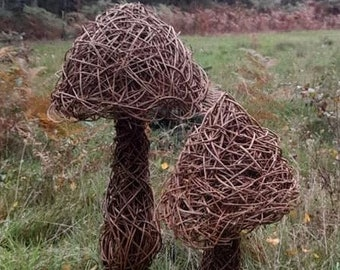Willow Toadstool Sculpture