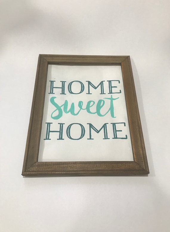Home Sweet Home Reverse Canvas for Entry Way/ Home Decor Canvas Wall Hanging/ Chalk Couture/ Home De