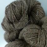 Alaska Reindeer, Natural color, Matanuska blend. 70% reindeer,30 SeaCell, 1 oz skein. Free domestic shipping