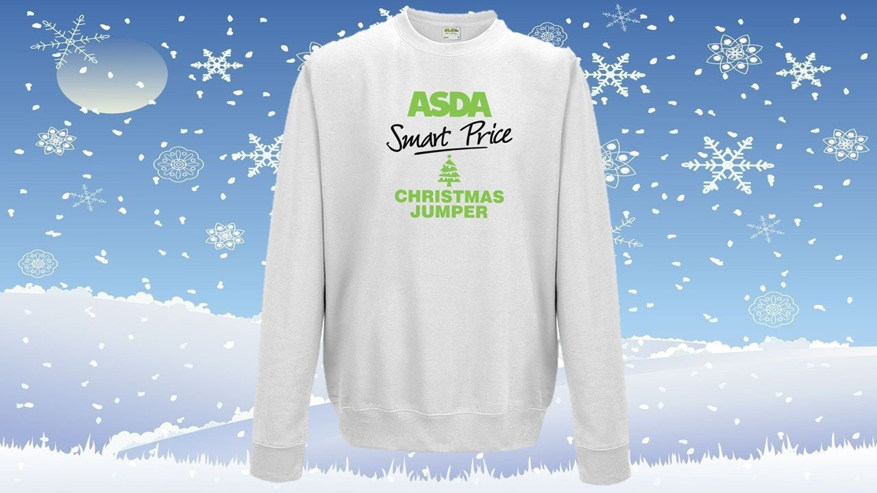 1adb4fbc8 Asda Smart Price Christmas Jumper Supermarket funny novelty