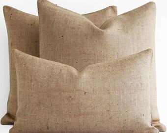 SALE! Custom Blank Plain Burlap Pillow Cover Outdoor pillow covers sunbrella, 10,12,14,16,18,20,22,24,26,28,30,32,34,36,Lumbar pillow covers
