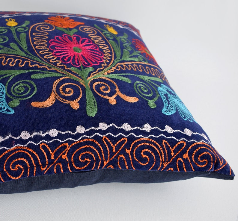 couch Bohemian Pillow vintage suzani cushion cover embroidered pillow embroidered suzani decorative throw,pillow cover,pillow case bed