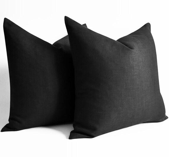 Sensational Black Linen Pillow Custom 12 14 16 18 20 22 24 26 28 30 36 Decorative Throw Pillows Decorative Pillow Covers Couch Euro Shams Bolster Uwap Interior Chair Design Uwaporg