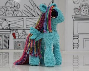 6c57c2755a30f Plush pony My little unicorn Plush Rainbow Dash Knitted plush unicorn