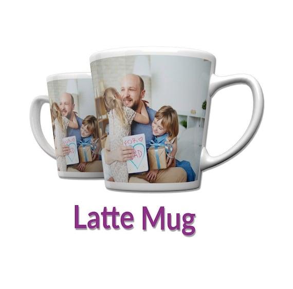 Personalised 12oz Latte Mug Custom Tea//Coffee Cup Your Image Design Gift Present