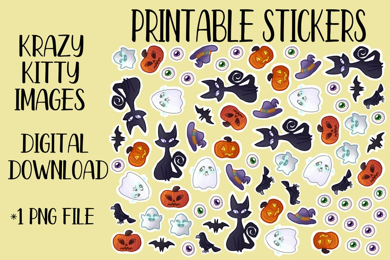 photo about Halloween Stickers Printable identify Printable Halloween Stickers, Electronic Obtain, Hand Drawn Electronic Stickers, Cat Electronic Stickers, Pumpkin, Ghost, Eye Sticker Obtain