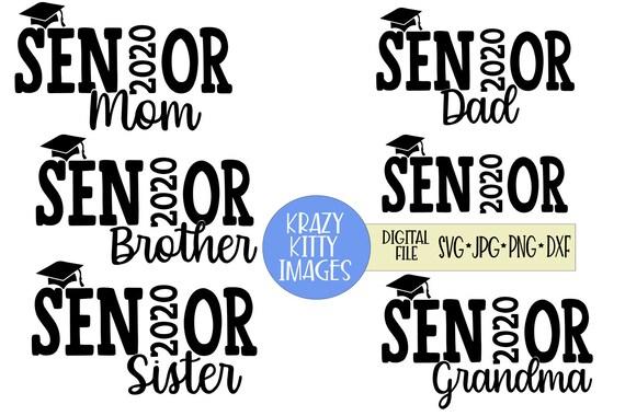 Senior 2020 Family Svg Bundle Senior Mom Svg Senior Dad Svg Etsy
