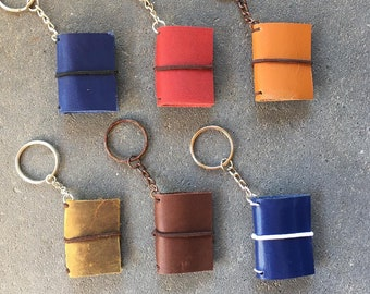 Little traveler's notebook keychain with two inserts