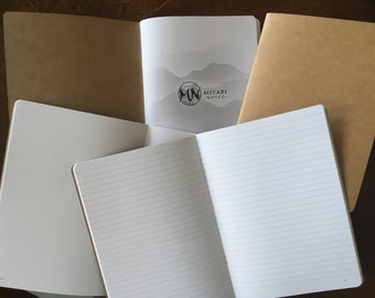 Traveler's notebook insert A5, dot grid or lined numbered pages