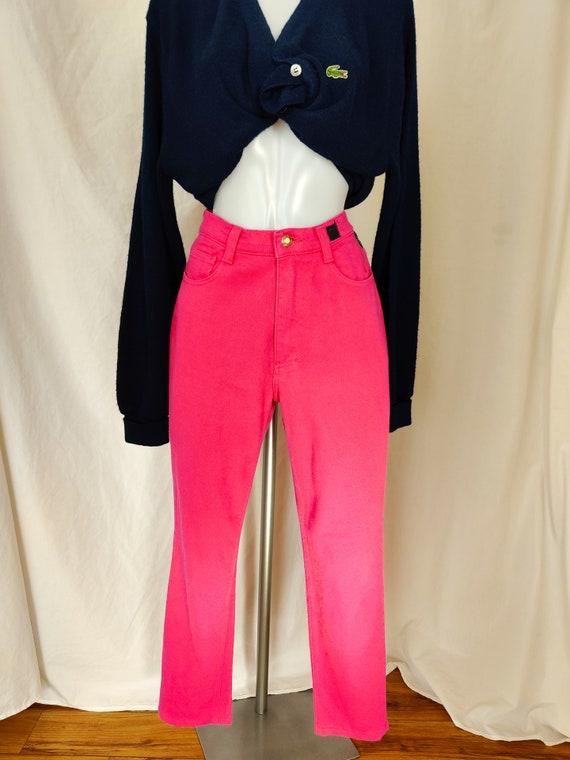 Vintage Versace pink high waist jeans