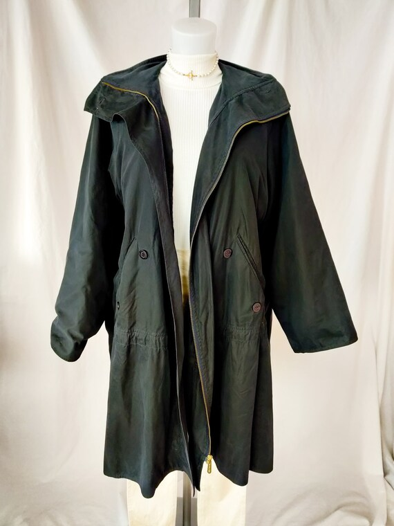 Vintage Max Mara button trench coat
