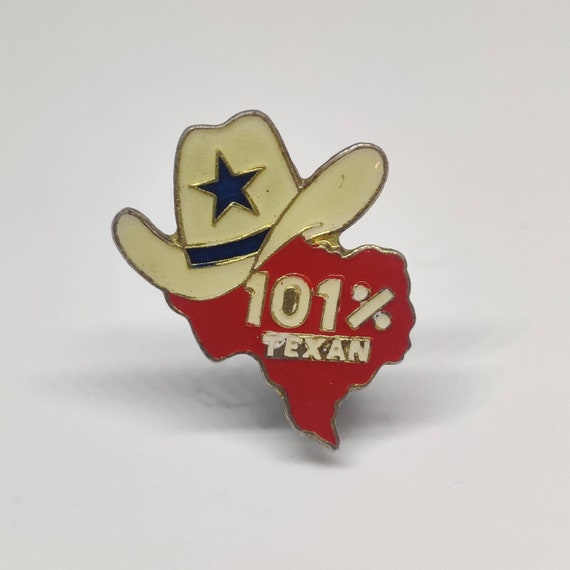 Vintage western 101/% Texan pin