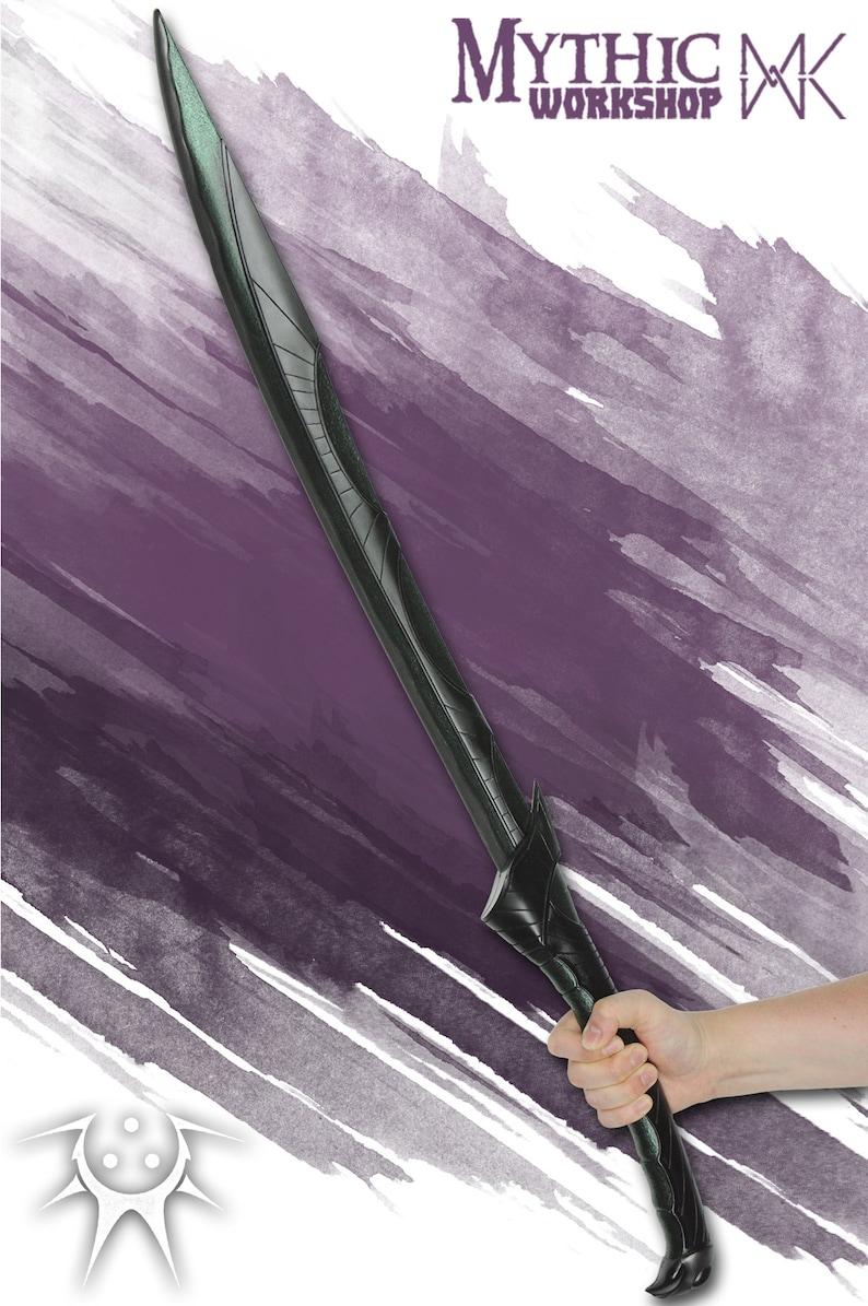 The Livid Dusk - Green dark elf LARP sword drow foam weapon short Nilveth