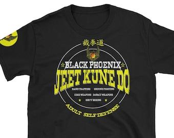 Short-Sleeve T-Shirt Black Phoenix JKD 2019 School Shirt with front & right shoulder design