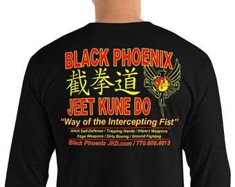 Long Sleeve T-Shirt Black Phoenix JKD  2018 School Shirt with front & back design