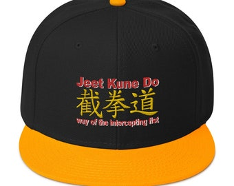 "Snapback Hat by Black Phoenix JKD 2020 ""Jeet Kune Do"" with Cantonese Characters interpretation"