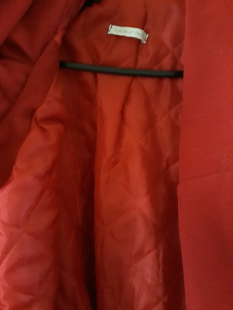 Handmade Wool Beautiful and warm Winter red coat XL-XXL