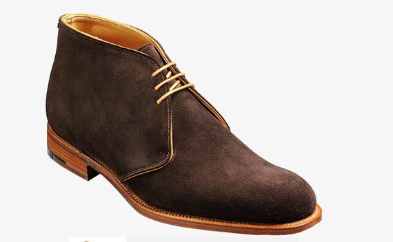 15883b4dca512 Men Handmade Ankle Brown Genuine Suede Chelsea Lace-Up Jodhpur Derby  Boots,Formal Dress Boots