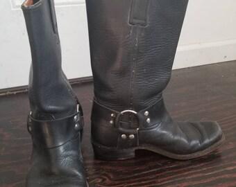 44e4df0418a106 Jahrgang Rebelde schwarz Motorrad Stiefel Mexiko Größe 26 Frauen Größe 8-8