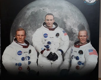 Apollo 11 Figures Set Armstrong Aldrin Collins. 50th Anniversary Set by DID New