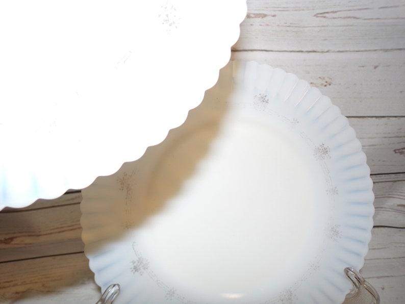 2 Exquisite Macbeth Evans Depression Glass Petalware Plates