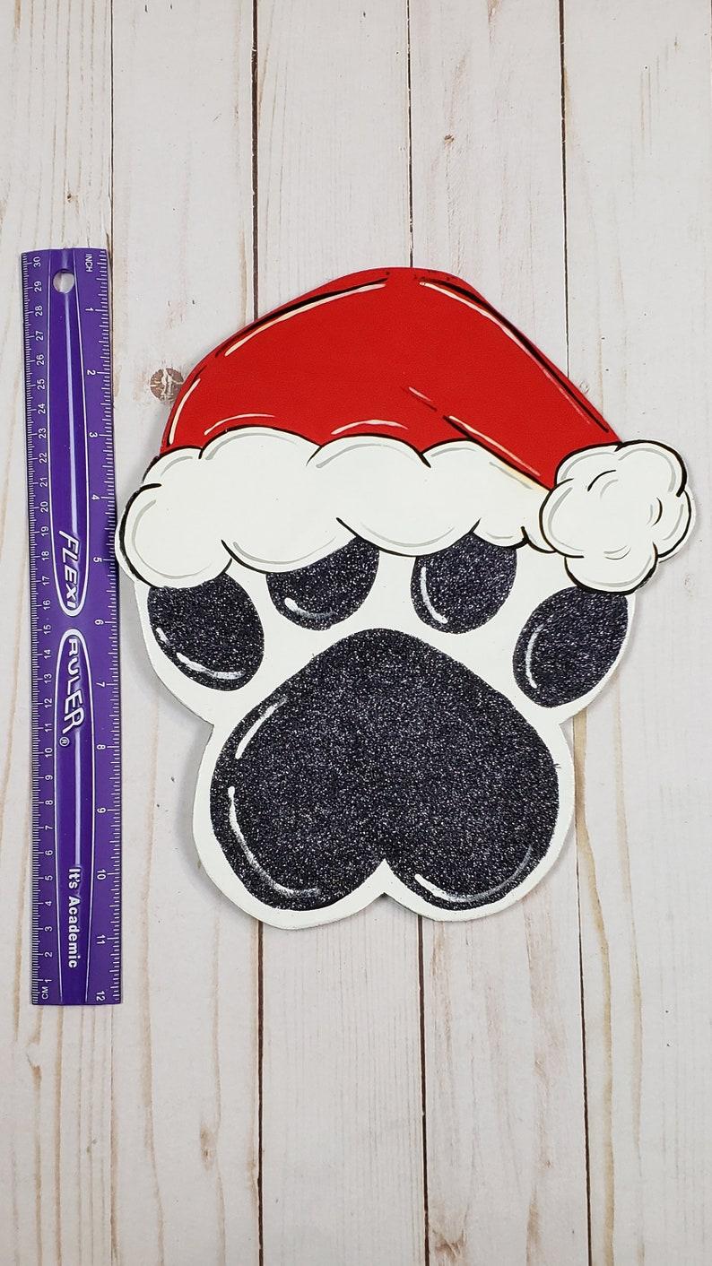 Christmas Paw Sign