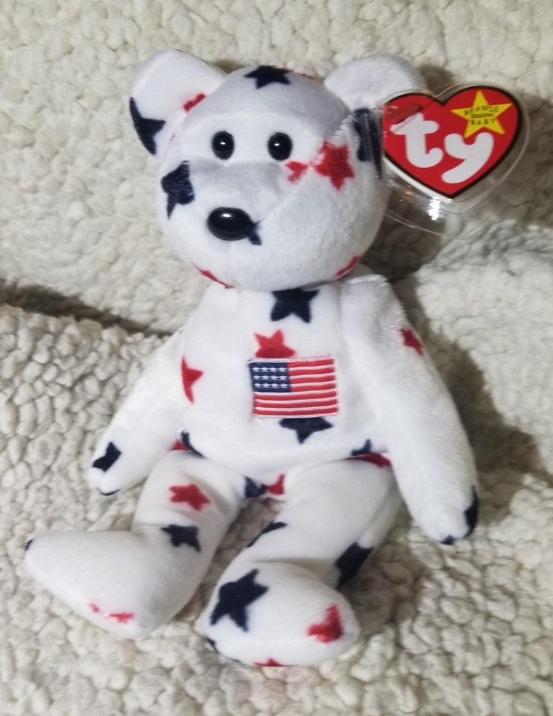 ac7ccda497a 1997 Glory the Patriotic Bear TY Beanie Baby