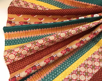 Striped Fabric , Striped geometric Fabric, Patchwork, Quilting, Fat quarter, 1/2 or 1 yard, Japanese Traditional Pattern mix