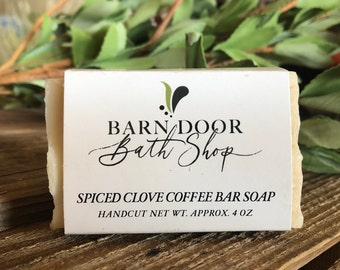 Spiced Clove Coffee Bar Soap All Natural Hand Crafted