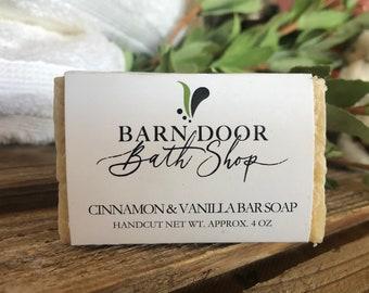 Cinnamon Vanilla Bar Soap All Natural Hand Crafted