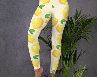 5711e11b9 Luscious Lemon Print Leggings