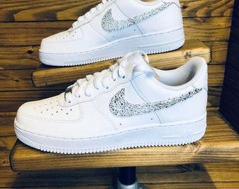 Taglia adulta Swarovski Custom Nike Air Force quelli in puro