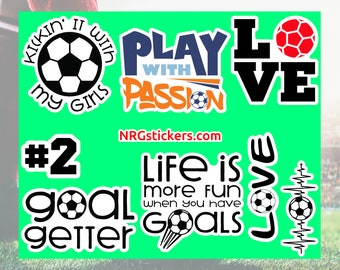 Football Soccer Mega Pack Ball Referee Corner Striker Goalkeeper Sport Silhouette Vector Clipart PNG EPS Scrapbook Supplies Instant Download