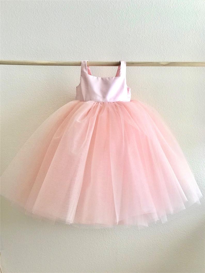 Fuschia Tulle Flower Girl Dress Hot Pink Pink Tulle Tutu Flower Girl Wedding Dress Pink Flower Girl Dress