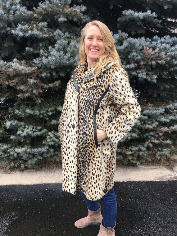 Vintage Coat, Women's Vintage Coat, Leopard Print