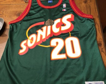 detailed look 3cd10 3ac6b Sonics jersey | Etsy