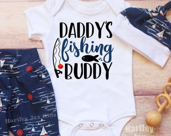 6698d006 Daddy's Fishing Buddy/Coming Home Outfit/ Baby Boy/ Baby Fishing Outfit/  New Mom/ Dad Baby Shower Gift/ Baby Fisherman/ Fishing/ Hunting